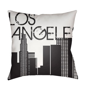 Jetset White and Black 18 x 18-Inch Pillow
