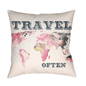 Jetset Multicolor 18 x 18-Inch Pillow
