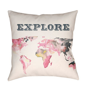 Jetset Multicolor 22 x 22-Inch Pillow