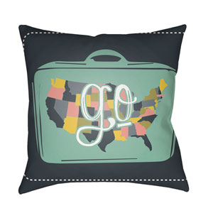 Jetset Multicolor 20 x 20-Inch Pillow