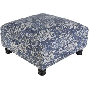 Kanpur Blue Ottoman