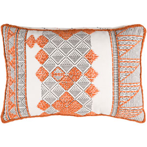 Kerio Orange and Brown 13-Inch x 19-Inch Pillow Cover