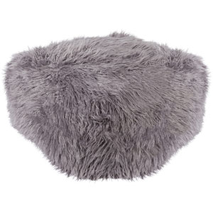Kharaa Light Gray Pouf