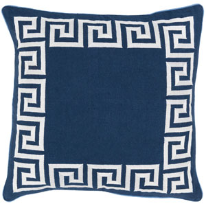 Key Blue and Neutral 22-Inch Pillow Cover