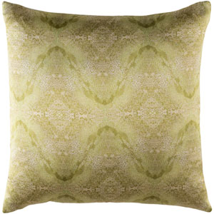 Kalos Neutral and Green 20-Inch Pillow Cover