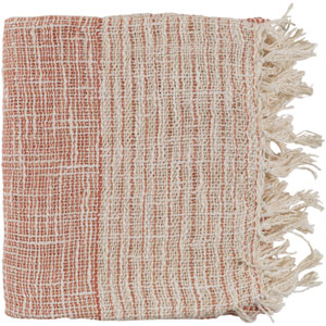 Kymani Burnt Orange and Cream Throw