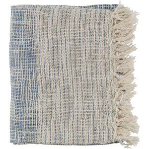 Kymani Dark Blue and Cream Throw