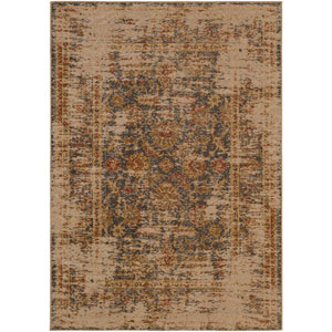Konya Charcoal and Tan Rectangular: 2 Ft. 2 In. x 3 Ft. Rug