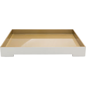 Kalista White and Wheat Tray