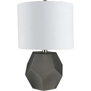 Kelsey Charcoal and White One-Light Table Lamp