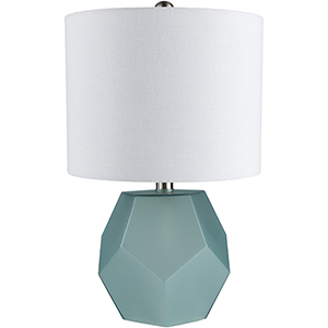 Kelsey Sky Blue and White One-Light Table Lamp