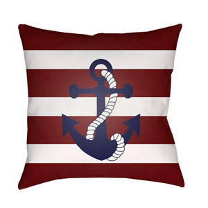 Anchor II Red and Blue 20 x 20-Inch Throw Pillow