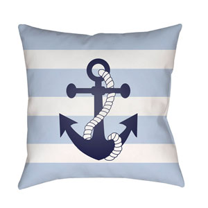 Anchor II Blue and White 20 x 20-Inch Throw Pillow