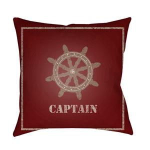 Captain Multicolor 20 x 20-Inch Throw Pillow