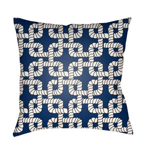 Rope II Blue and White 20 x 20-Inch Throw Pillow