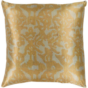 Lambent Sea Foam and Mustard 22 x 22 In. Throw Pillow