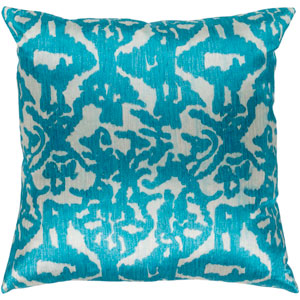 Lambent Sea Foam and Teal 22 x 22 In. Throw Pillow Cover