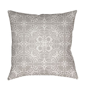 Laser Cut Sea Foam and Light Gray 22 x 22-Inch Pillow
