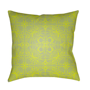Laser Cut Lime 20 x 20-Inch Pillow