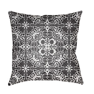 Laser Cut White and Black 22 x 22-Inch Pillow