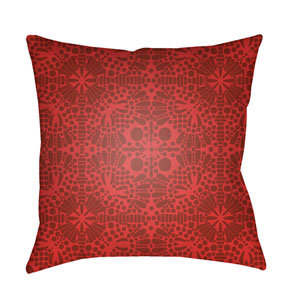 Laser Cut Bright Red and Dark Red 18 x 18-Inch Pillow