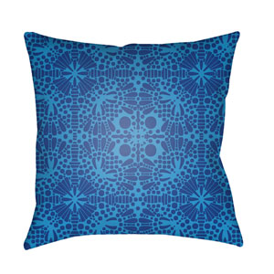 Laser Cut Sky Blue and Dark Blue 18 x 18-Inch Pillow