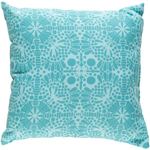 Laser Cut Teal and Mint 22 x 22-Inch Pillow
