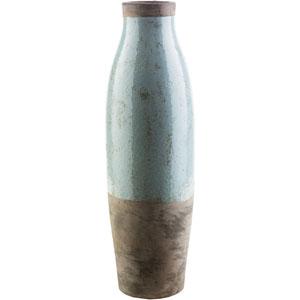 Leclair Sage and Dark Brown Floor Vase