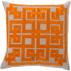Gramercy Orange and Gray 20-Inch Pillow Cover