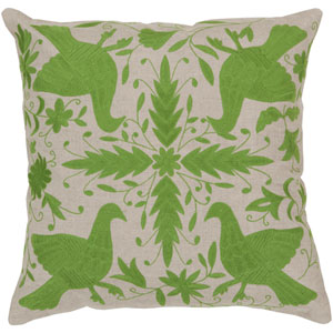 Oatmeal and Peridot Polyester Filled 22 x 22  Pillow