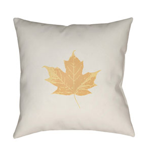 White Maple 20-Inch Throw Pillow with Poly Fill