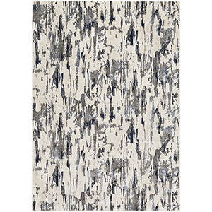 Lagom Charcoal and Ivory Rectangular: 3 Ft. 11 In. x 5 Ft. 7 In. Rug