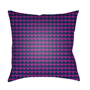 Littles Dark Blue and Bright Purple 22 x 22-Inch Pillow