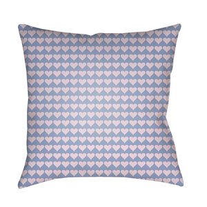 Littles Bright Blue and Lilac 20 x 20-Inch Pillow