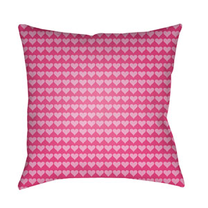 Littles Bright Pink 22 x 22-Inch Pillow