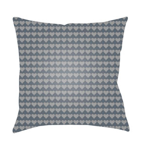 Littles Charcoal and Medium Gray 22 x 22-Inch Pillow