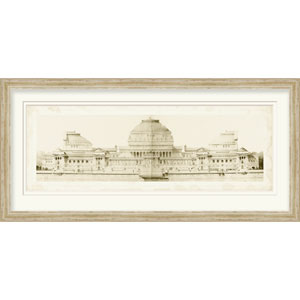 Les Grand Prix de Rome I by Le Deley 43 x 21-Inch Architecture Wall Art