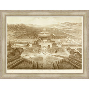 Birds Eye View of Versailles by Petit 46 x 36-Inch Architecture Wall Art