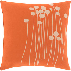 Abo Orange and Neutral 20-Inch Pillow Cover