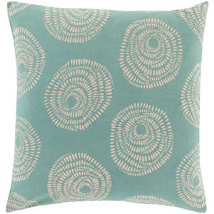 Sylloda Blue and Neutral 18-Inch Pillow Cover