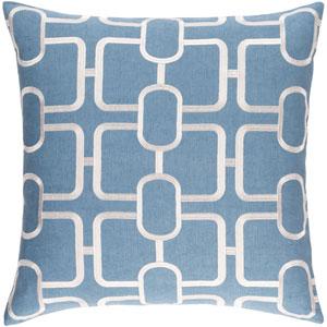 Lockhart Denim and White 22 x 22 In. Throw Pillow