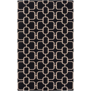 Lockhart Black and Neutral Rectangular: 2 Ft x 3 Ft Rug by Alexander Wyly
