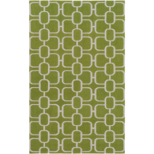 Lockhart Green and Gray Rectangular: 5 Ft x 7 Ft 6 In Rug by Alexander Wyly