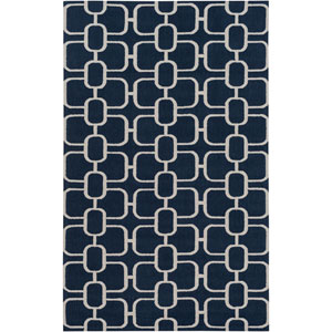 Lockhart Blue and Neutral Rectangular: 5 Ft x 7 Ft 6 In Rug by Alexander Wyly