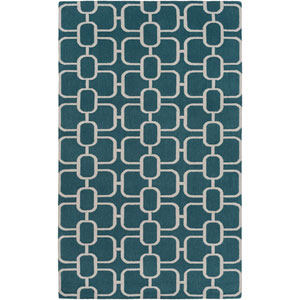 Lockhart Green and Neutral Rectangular: 2 Ft x 3 Ft Rug by Alexander Wyly