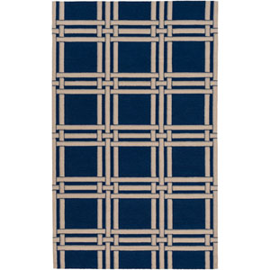 Lockhart Blue and Neutral Rectangular: 2 Ft x 3 Ft Rug by Alexander Wyly