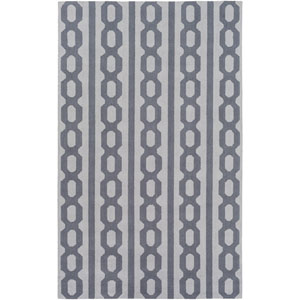 Lockhart Blue and Gray Rectangular: 2 Ft x 3 Ft Rug by Alexander Wyly