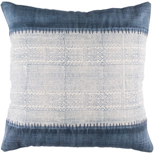 Lola Neutral and Blue 30-Inch Pillow Cover