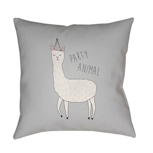 Llama Multicolor 18 x 18-Inch Throw Pillow