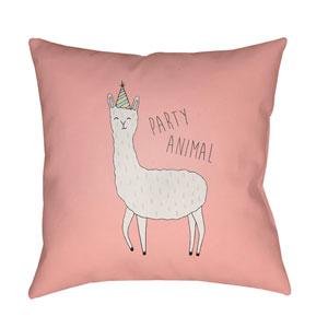 Llama Multicolor 20 x 20-Inch Throw Pillow